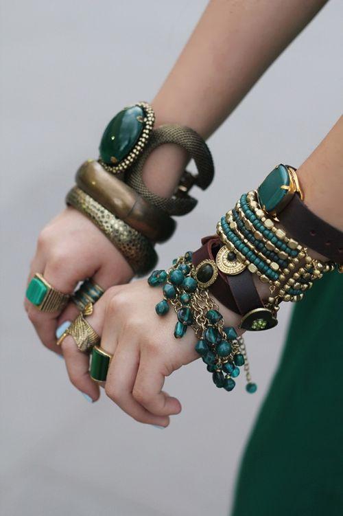 Bracelets-verts